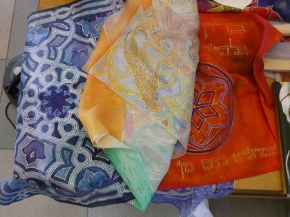 silk painted hand made judaica